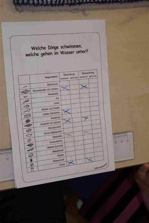 schwimmen und sinken grundschule schwimmen und sinken im team entdecken auenwaldschule