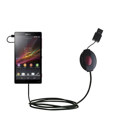 Port Usb Xperia Zr coiled power sync usb cable suitable for the sony xperia zr with both data and charge