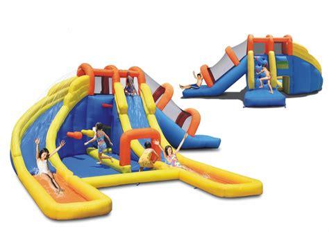 big bouncy houses big splash dual water slide bounce house pool water park