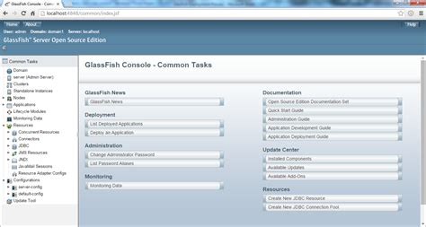 glassfish admin console glassfish 4 1 deployment process benchresources net