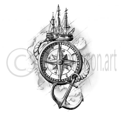 nautical compass tattoos designs 25 best ideas about anchor compass on