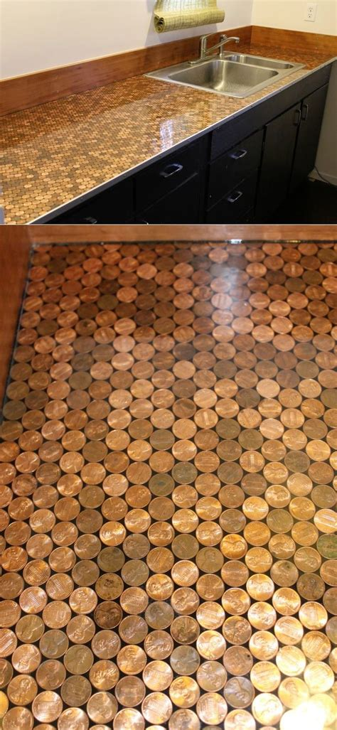 penny bar top diy 25 best ideas about penny countertop on pinterest bar