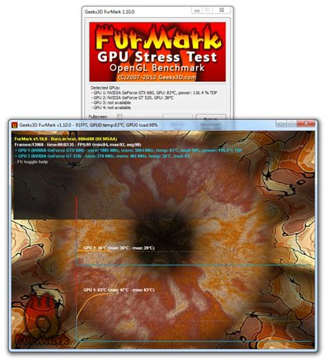 bench tests furmark vga stress test graphics card and gpu stability test burn in test opengl
