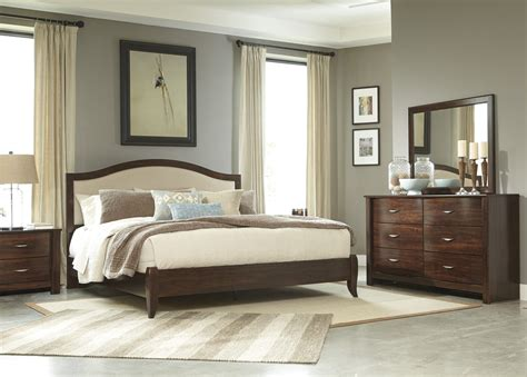 Ashley Corraya Cherry Finish Bedroom Furniture Set Bedroom Furniture Houston Tx
