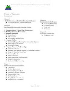 Internship Program Template by Environmental Health Workforce Development Post Secondary
