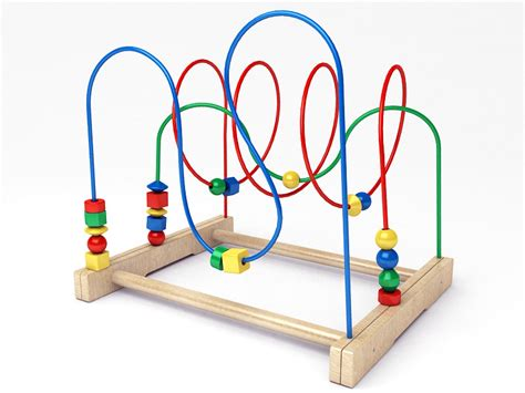 bead roller coaster ikea mula bead 3d model