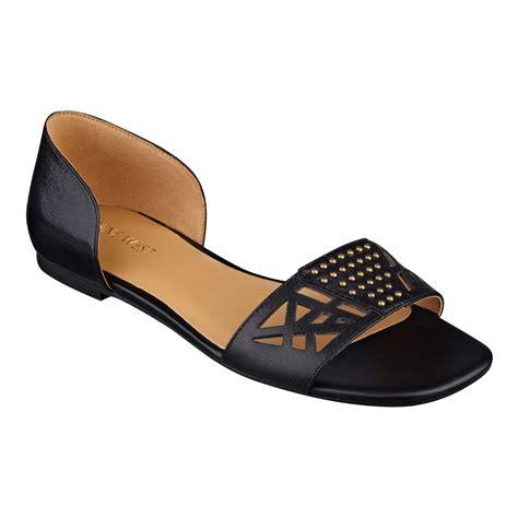 Peep Toe Shoes By Monsoon by Lyst Nine West Slowdown Peep Toe Flats In Black