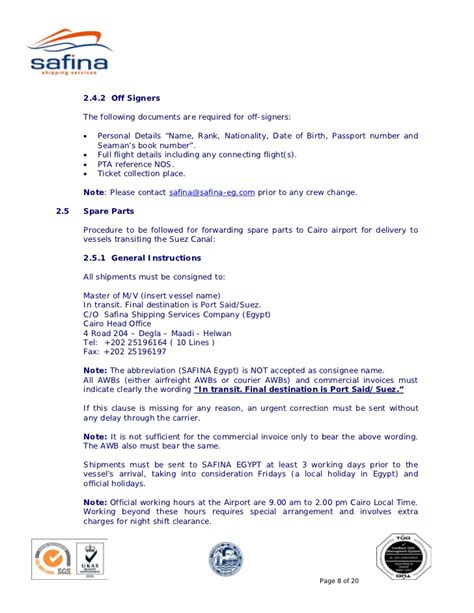 Guarantee Letter For Seaman safina suez canal transit guide