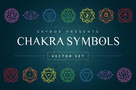 chakra symbols vector set illustrations creative market