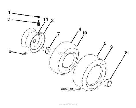 husqvarna gtxls    parts diagram  wheels tires