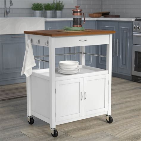 ehemco kitchen island cart natural butcher block bamboo andover mills guss kitchen island cart with natural