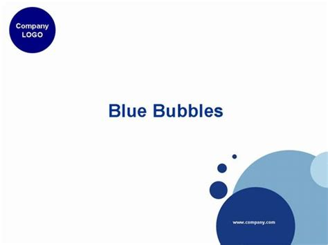 ppts templates blue bubbles powerpoint template