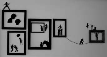 Wall Art diy silhouette wall art thinkings