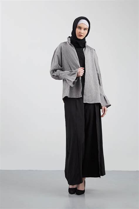 Sale Outer Grey sell jass outer grey outerwear hijabenka