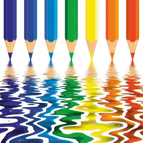 ac colored pencils the colored pencils are melting graphic design