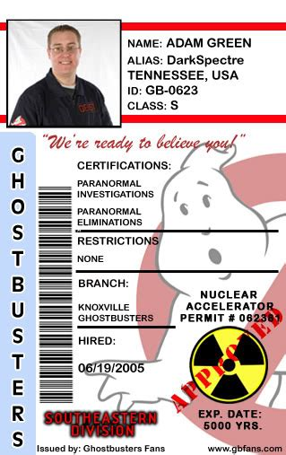ghostbusters id card template design the ghostbusters fans id card page 4