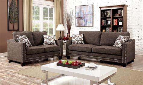 chenille living room furniture kerian brown chenille living room set cm6157br sf