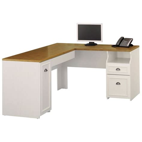 White Desk L Shaped Bush Fairview L Shaped Computer Desk Antique White Www