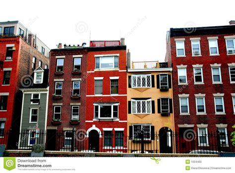 Boston Row Houses - boston houses stock photo image 1004400