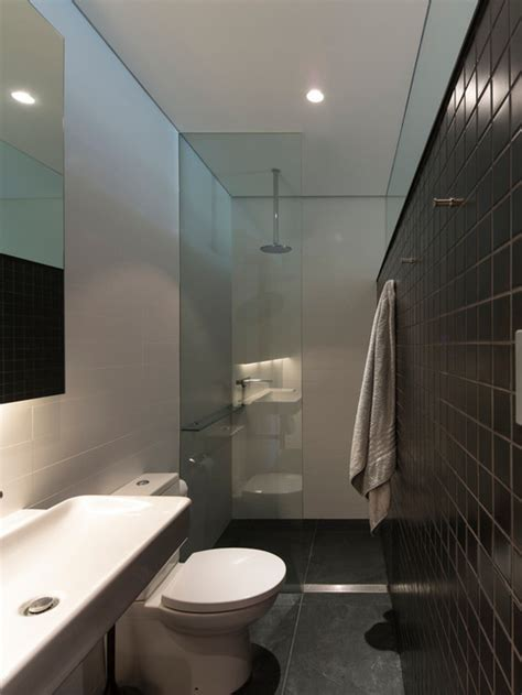 Small Narrow Bathroom Ideas narrow ensuite houzz