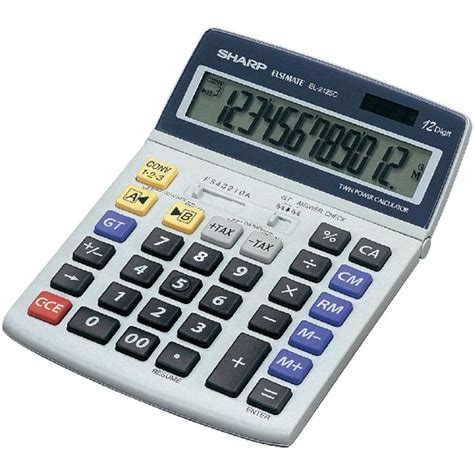 calcolatrice da tavolo sharp calcolatrice da tavolo el 2125 c in vendita