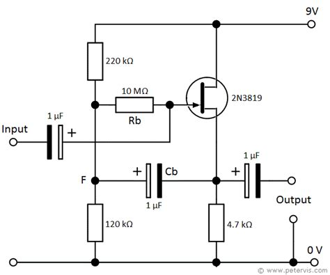 transistor tipo fet 2n3819 transistor bootstrapping circuit using fet