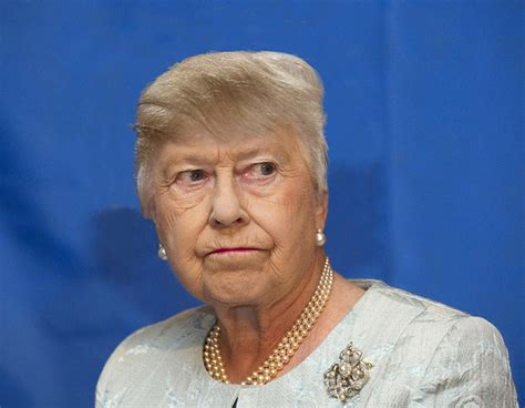 queen elizabeth donald trump 14 celebrities dramatically altered with donald trump s hair