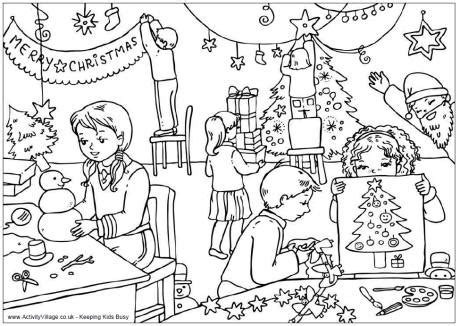 summer coloring pages activity village christmas classroom colouring page