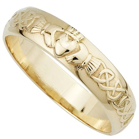 14k Gold Wedding Band by Wedding Ring S 14k Gold Claddagh Wedding Band
