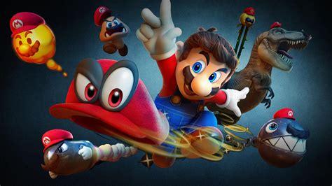 Wallpaper Super Mario Odyssey, Nintendo Switch, 2017, 4K