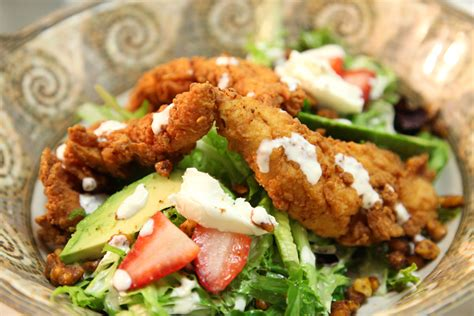 buttermilk fried calamari salad with cantaloupe vinaigrette key west grill gallery 2