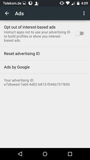 android advertising id how to reset your advertising id on android ghacks tech news