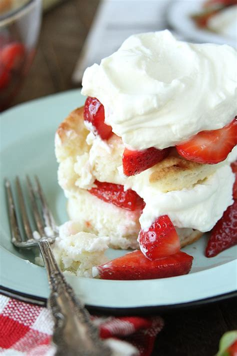 Real Sweet Cheese strawberry shortcakes with sweet cheese biscuits