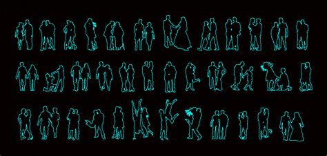 people silhouettes couples dwg block  autocad designs cad