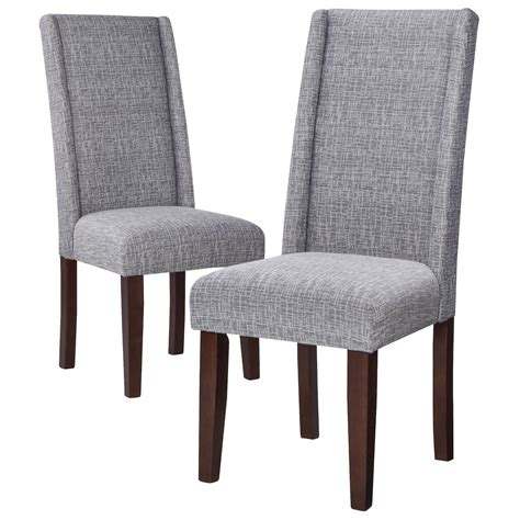 contemporary wingback dining chair modern wingback dining chair set of 2 ebay