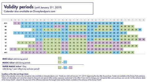 Calendario Qui Ticket Disneyland Biglietti 1 Giorno In Prevendita