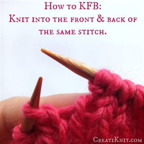 how to knit kfb stitch how to kfb an easy knitting stitch stitch easy and