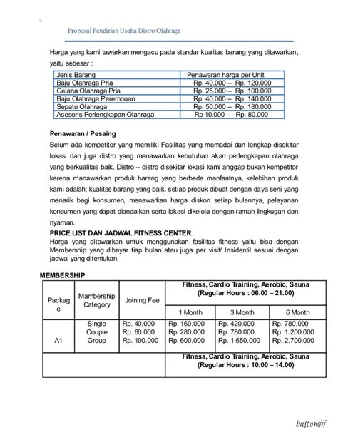 contoh proposal membuat usaha distro contoh proposal usaha distro job seeker