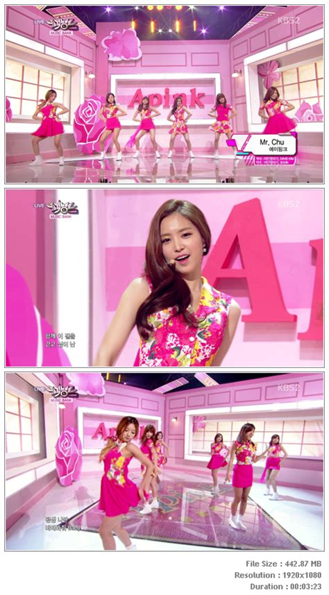 a pink mr chu live inkigayo perf apink mr chu 140404 kbs bank hd hallyu