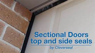 Garage Door Top And Side Seal by Sectional Garage Door Top And Side Seals