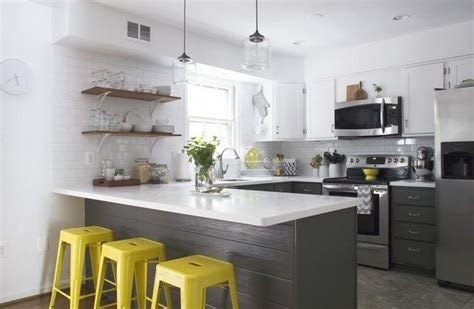 yellow and gray kitchen yellow grey kitchen kitchen ideas pinterest the o