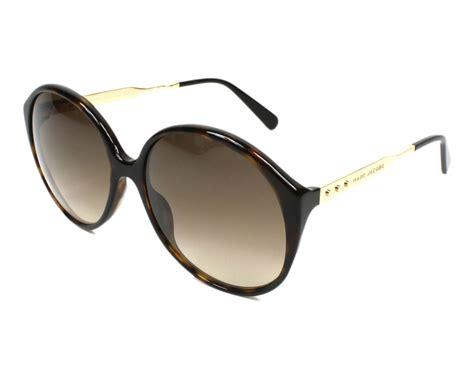 Marc Jacob Mj Snapshot Original Ori 2 lunettes de soleil marc mj 613 s ant cc havane avec des verres marron pour femmes taille