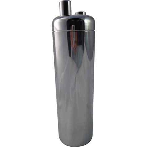 art deco martini shaker art deco chrome zephyr cocktail shaker william welden