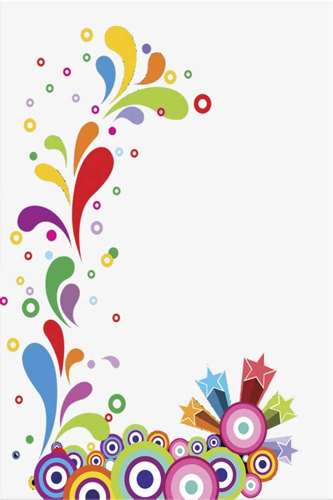 color frame colorful border vector material color frame vector png