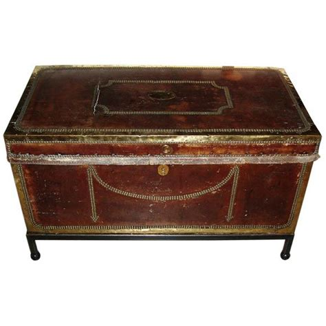 leather storage chest coffee table at 1stdibs