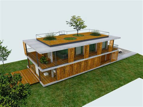 Home Design 3d Toit Plans D Une Maison Contemporaine Avec Toit Terrasse