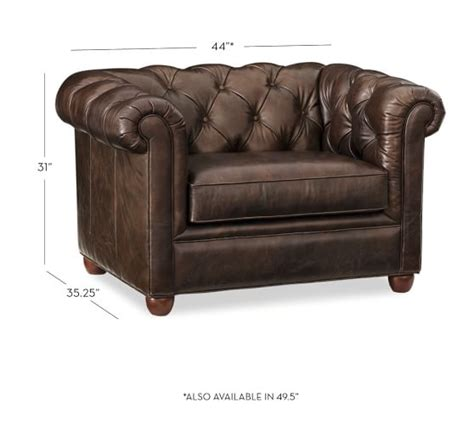leather chesterfield armchair chesterfield leather armchair pottery barn