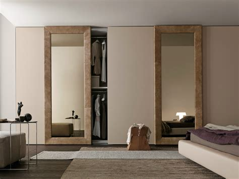 Wardrobe Designs With Mirror For Bedroom Sectional Mirrored Wardrobe With Sliding Doors Mirror By Presotto Industrie Mobili Design