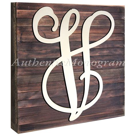 wooden monogram letters custom single letter vine wooden monogram with 1725