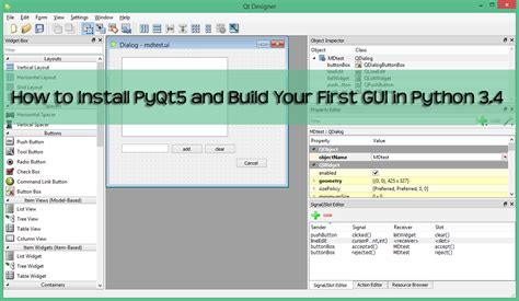qt tutorial pdf for c how to install pyqt5 and build your first gui in python 3
